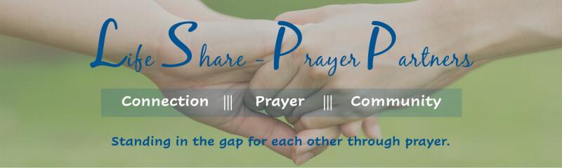 Life Share Prayer website page banner